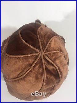 1920s Vintage ornate Copper Velvet Cloche Hat