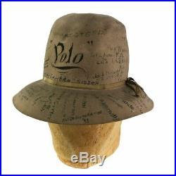 1920s Women's Crusher Traveler Pop Art Signature Hat