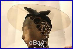 1930s Futuristic Hat Tilt Top 40s Polyethylne Brim Rare Evening Saucer Vintage