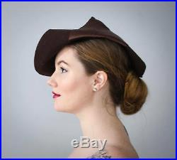 1930s fedora slouch hat brown 1930s hat brown wool hat