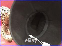 1940s 40s Vintage Style Navy Hat Fedora Tilt Bonnet Wide Brim Fernando garcia