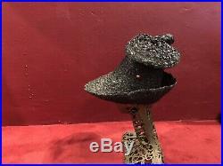 1940s Or 50s Black Straw Hat Italy Italian Beach Mod Vintage Tilt