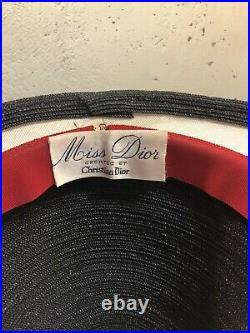 1950-60s Miss Dior Woven Cloche Hat