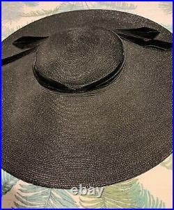 1950s Vintage Cartwheel Platter Saucer Hat Pinup Rockabilly Viva 50s Glamorous
