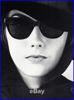 1960 s Vintage FEMALE FASHION Sunglasses Hat Woman 16x20 Photo Art WINGATE  PAINE ef3d317798d9