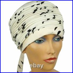 1960s Vintage Silk Turban Hat Otto Lucas London 1966 Size S