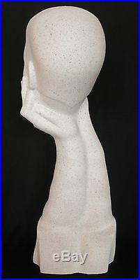 1980's Vintage Christian Dior Mannequin Female Woman Head millinery glasses hat