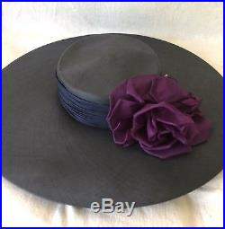 2 Absolutely Spectacular Vintage Summer Straw Wide Brim Hats from Neiman Marcus