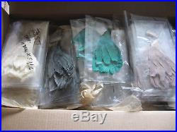 5,694 vintage feather millinery hat trims early 1900s New Old Stock-close out