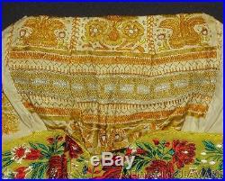 ANTIQUE 1900s Czech/Slovak embroidered bonnet handmade bobbin lace folk costume
