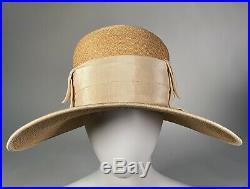 Amazing Authentic Vintage 1920s Cloche Hat Art Deco Wide Brim Modern Flapper
