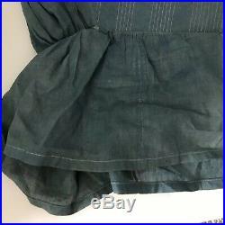 Antique 1800s Prairie Bonnet Womens Blue Hue Reenactment Costume Homespun