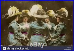 Antique Edwardian Hat Feathers Millinery Bird Of Paradise