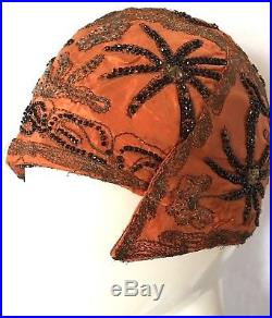 0d87cc054 Vintage Womens Hats | Antique Flapper Cloche Hat Art Deco'Aerial ...