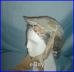 Antique Hat 1855 Pearl Gray Silk Provenance Museum De-accessioned