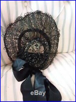 Antique Jet Mourning Hat