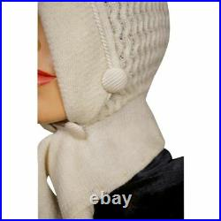 Antique Ladies Knitted Bonnet with Tie ca 1910