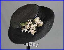 Antique Original Victorian Ladies Bonnet Hat Millinery