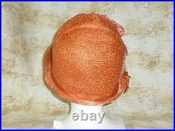 Antique Roaring Twenties Cloche Hat Vintage Straw Flapper Gatsby Hat 1920s 1930s
