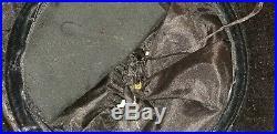Antique Victorian Edwardian Ladies Beaver Fur Felt Hat Ostrich Feathers & Flower