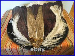 Antique Victorian/Edwardian Lady's Hat Enormous + Feathers