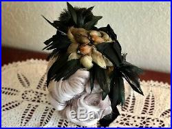 Antique Victorian Hat Taxidermy Birds Vintage Millinery