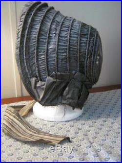 Antique Victorian Silk Bonnet