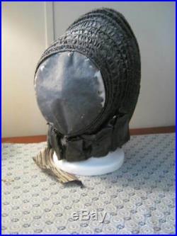 Antique Victorian Silk Caned Bonnet