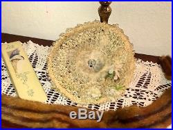 Antique Victorian Straw and Lace Graduation Hat from 1897 W Provenance Millinery