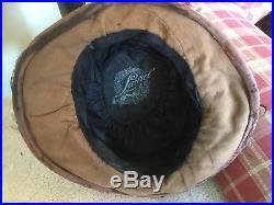 Antique Victorian hat velvet with silk millinery flowers & lace by Laurel Paris