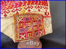 Antique Vintage Folk Slovakia Handmade Cotton Women's Hat