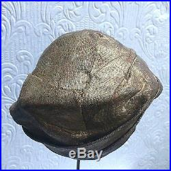 Antique Vintage Gold Lame And Velvet 1920s Cloche Hat