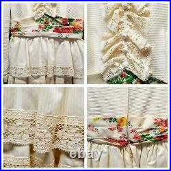 Antique Vintage Women's 1900 Dress With Lace and Matching Hat