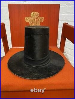 Antique Welsh Ladies Silk Hat 1855 Victorian Carver & Co Traditional Costume