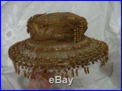 Antique vintage Edwardian string & straw hat. Really lovely