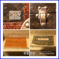 Auth Vintage Louis Vuitton Antique Hat Shoe Box Steamer Trunk Monogram RARE SIZE