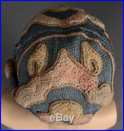 Authentic 1920's Cloche Hat Bouclé Wool, Silk, Soutache Braid