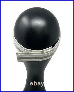 Authentic CHANEL Sports Vintage Coco Mark CC Logo Visor Light Gray White RankAB