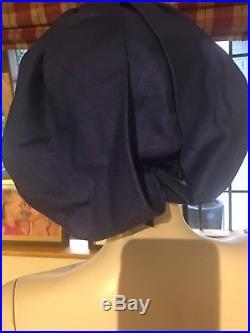 Authentic Christian Dior Chapeaux Vintage Blue Eclectic Turban Hat M L Size