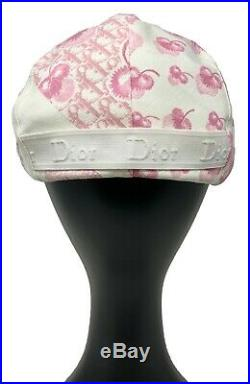 Authentic Christian Dior Girly Trotter Hunting Hat Cap Pink Size #57 Rank AB