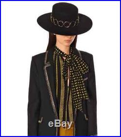 BNWT Yves Saint Laurent Andalusian Hat $1600.00 Brand New Black Size Small