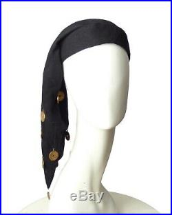 BULLOCKS WILSHIRE 1940s Black Wool Liripipe Coin Hat