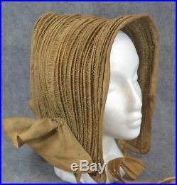 Bonnet hat pre Civil War hooped hand made original rare antique museum