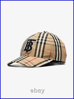 Burberry Monogram Motif Vintage Check Baseball Cap, Unisex, New, Authentic