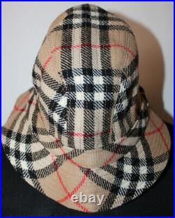 Burberrys Nova Check Burberry Women's Vintage Wool Bucket Hat