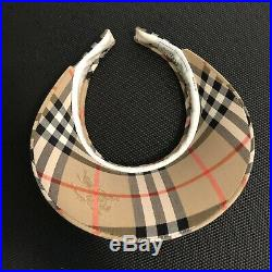 Burberrys Womens Visor Nova Check Hat Vintage Burberry