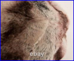 CHRISTIAN DIOR VINTAGE Rabbit Fur Light-Gray + Plum Bonwit Teller Cap Hat
