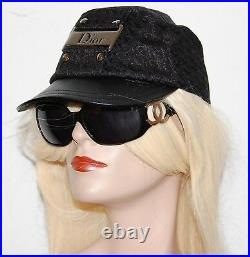 CHRISTIAN DIOR Vintage Black Monogram Baseball Hat