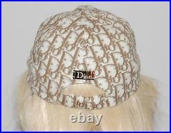 CHRISTIAN DIOR Vintage Monogram Floral Baseball Hat