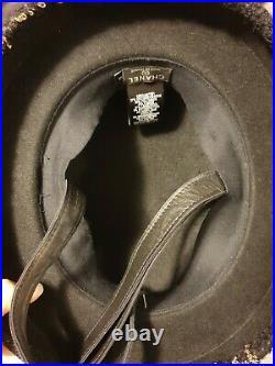 Chanel tweed bowler hat authentic vintage
